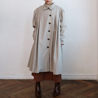 pleats trench coat - 2color