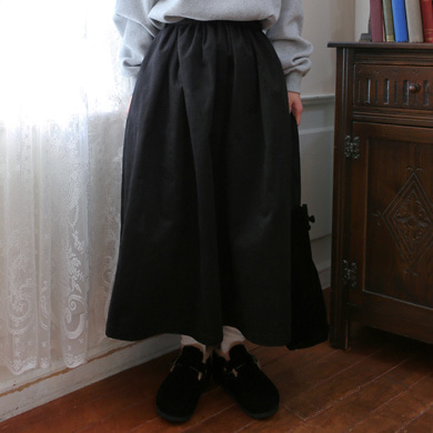 banding flare skirt - 3color