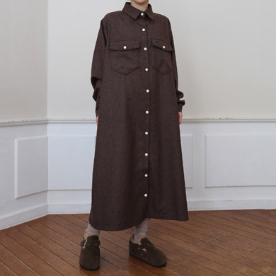 wool long shirts ops - 3color