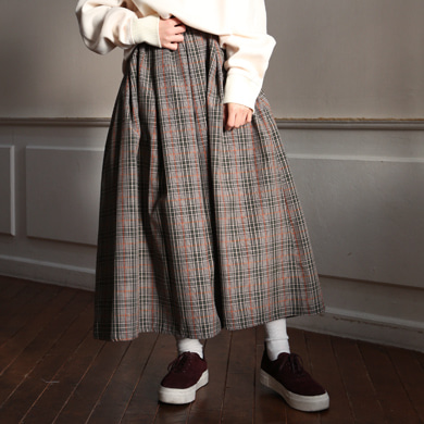 spring check skirt - 2color