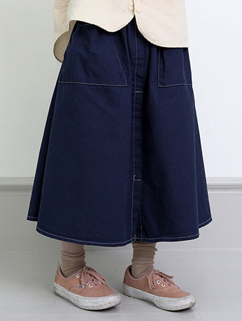 titch slit banding skirt - 2color