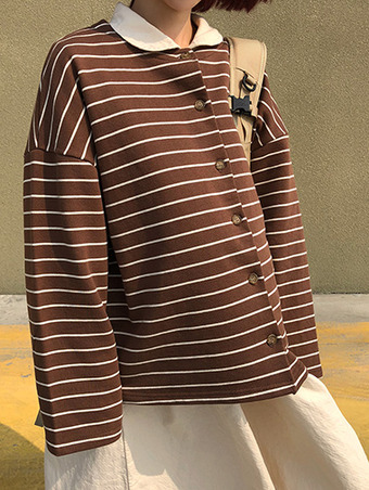 2way stripe cardigan - 2color