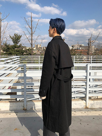 [unisex] pocket trench coat - 2color
