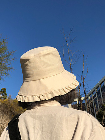 frill bucket hat - 2color