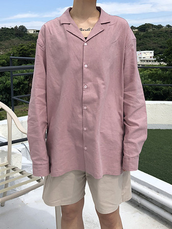 [unisex] linen pajamas shirts - 4color