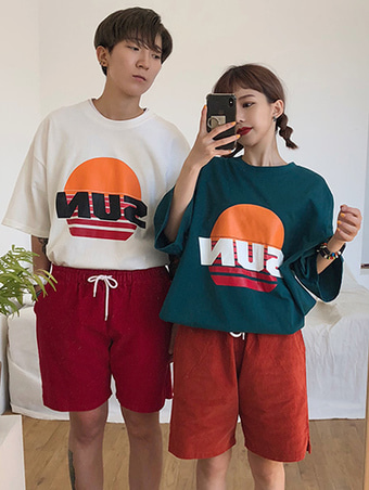 [unisex] Sun T-shirt / 3color