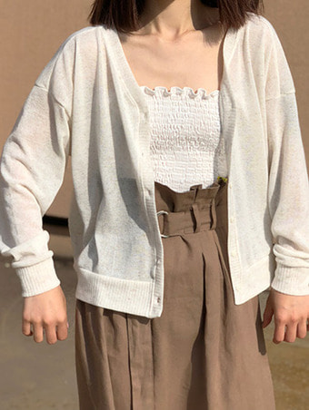 riversible summer cardigan / 4color