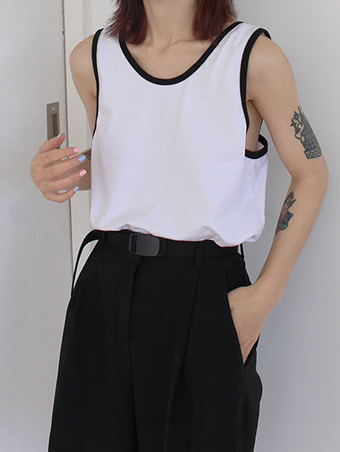 back point sleeveless / 3color
