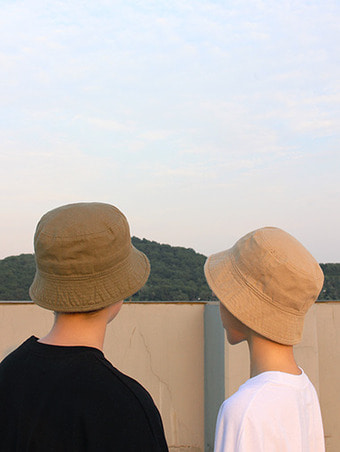 cotton short bucket hat / 3color