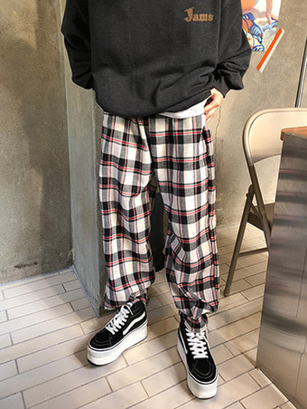 clover check pants / 5color