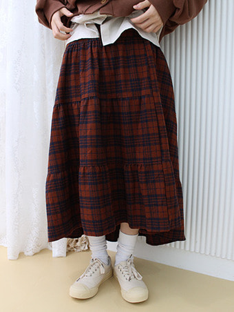 check can skirt / 2color