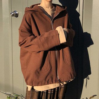 pocket hood zipup / 3color