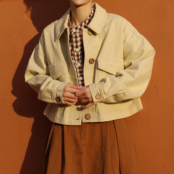 cotton crop jacket / 3color