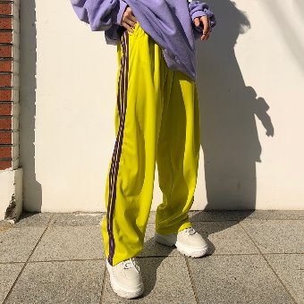 [unisex] three line jersey pants / 4color