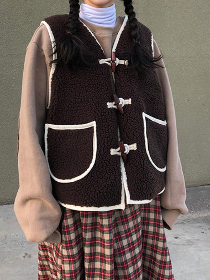 chocolate dumble vest / 2color
