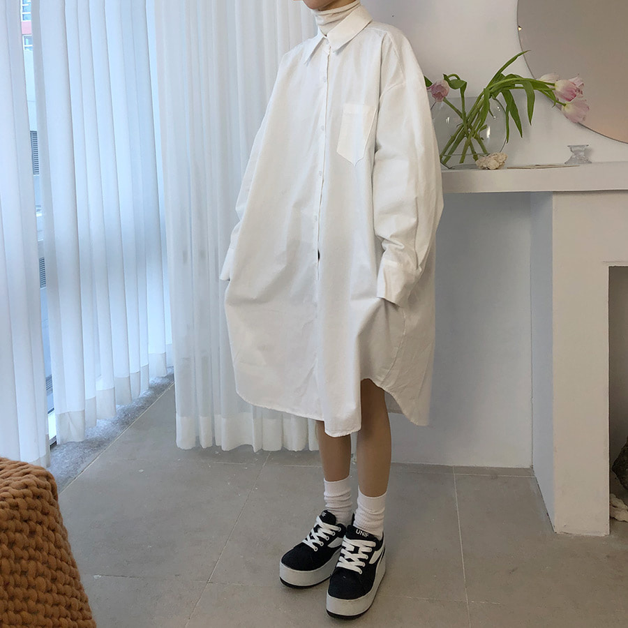 nomal long shirts ops / 3color