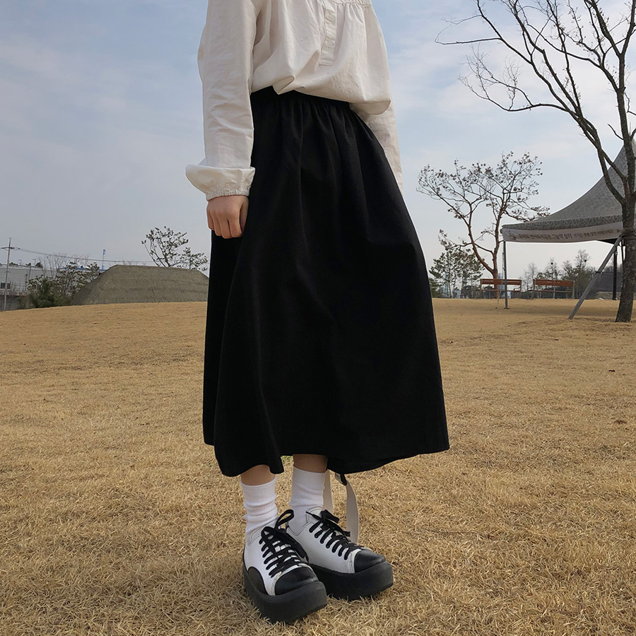 deco flare skirt / 2color
