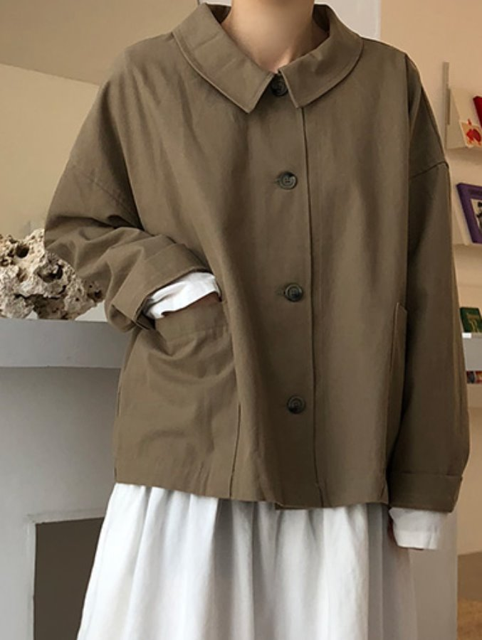 cotton robe jacket / 2color