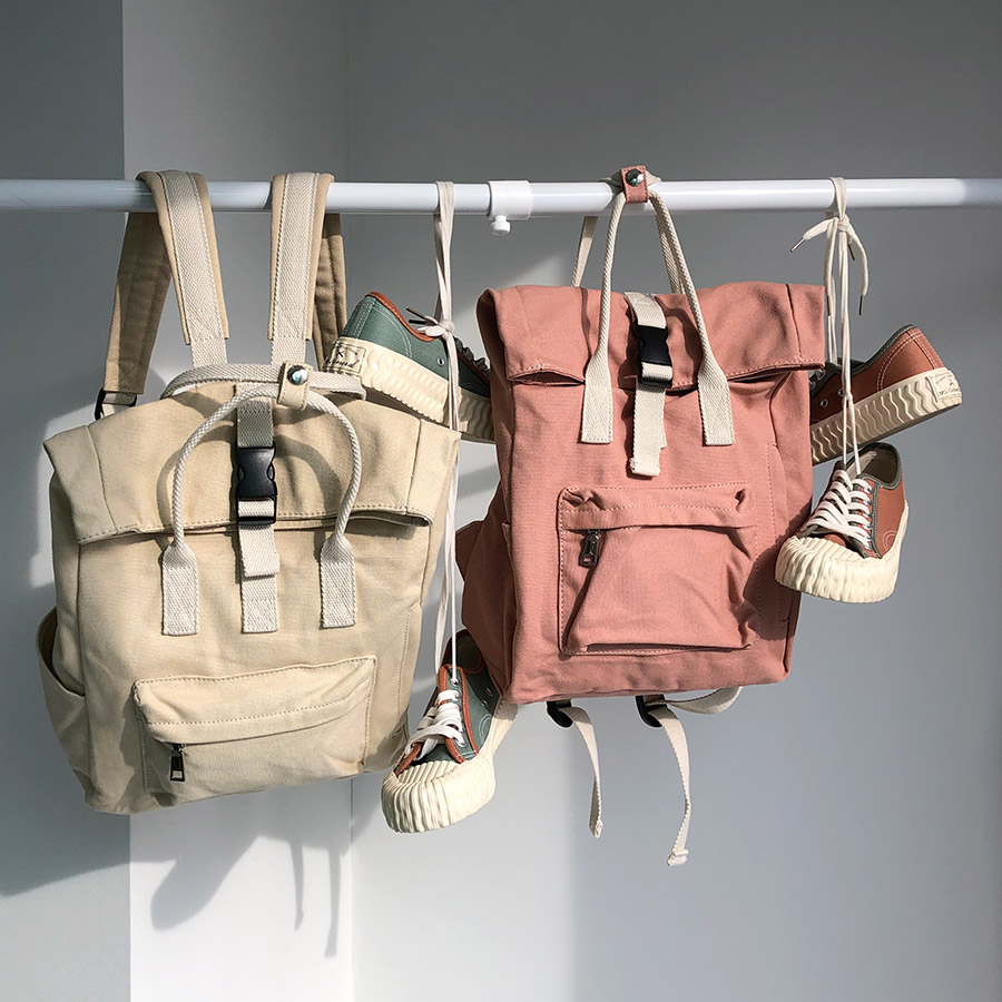 canvas backpack / 3color