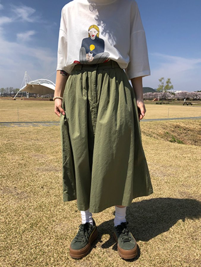 ani flare skirt / 3color