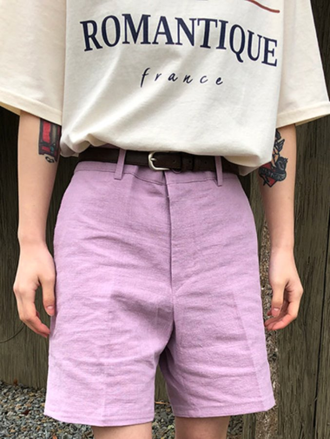 [unisex] linen shorts / 4color