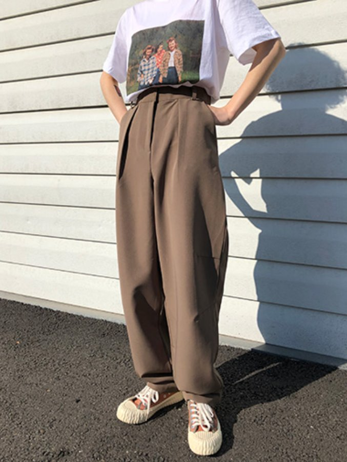 balloon wide slacks / 2color