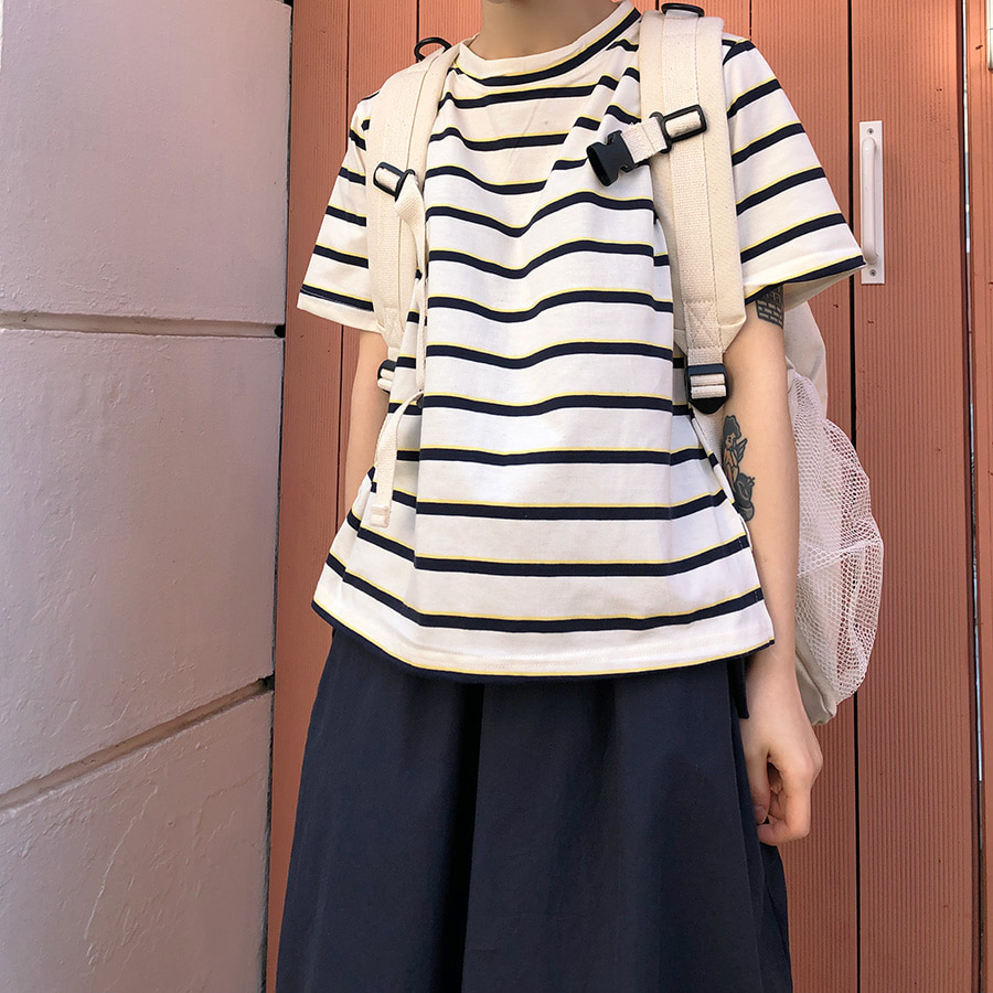 east stripe crop T / 3color