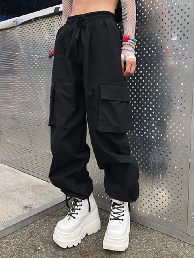 star string cargo pants / 3color
