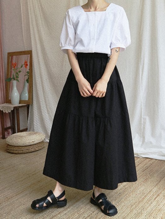 belt can can skirt / 2color
