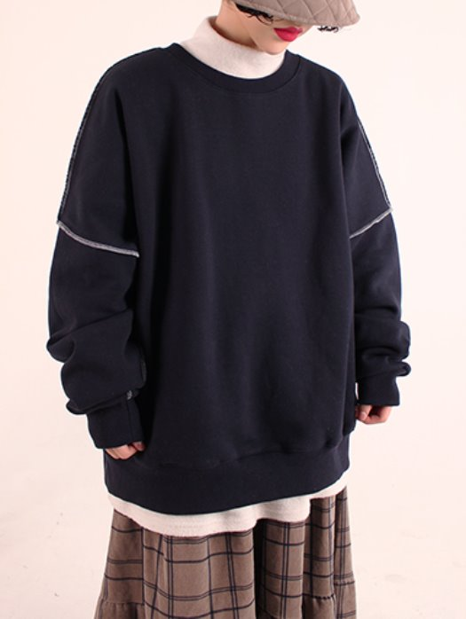 [unisex] Overfit stitch mtm / 5color