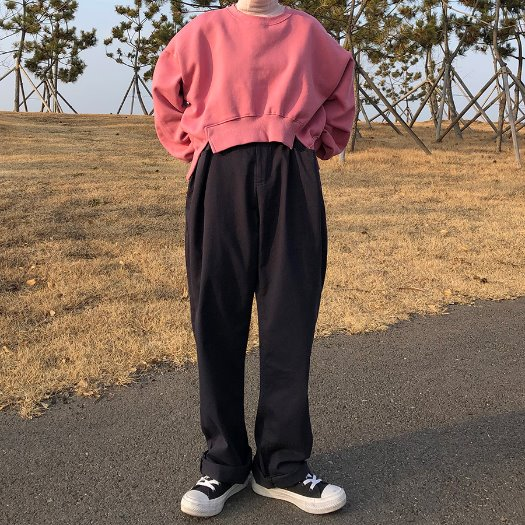 Pintuck waistband pants / 3color
