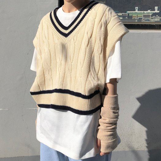 Bebe knit vest / 3color
