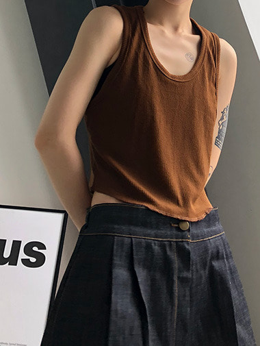 Crop golgi sleeveless / 4color
