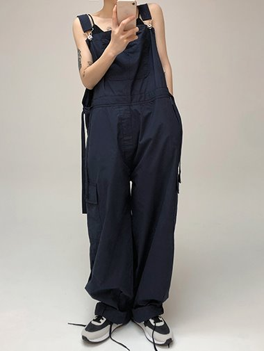 Peanut wide overall pants / 3color