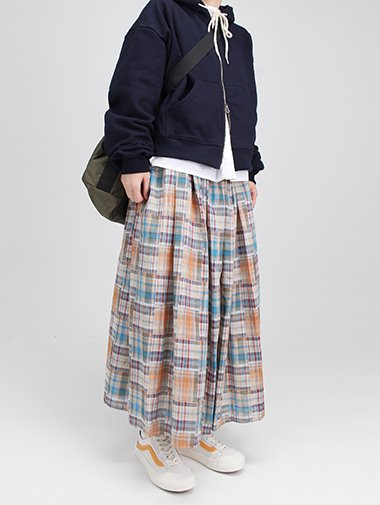 Apple check skirt / 2color