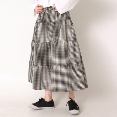 check cancan skirt