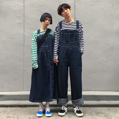 denim overall pants