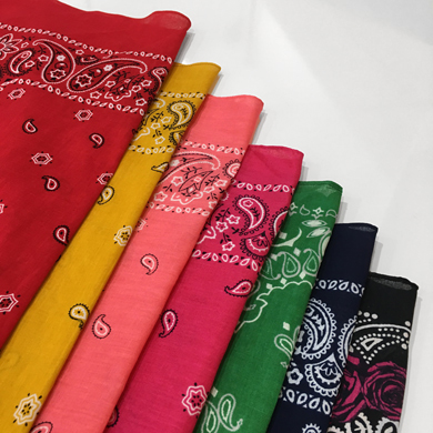paisely cotton scarf - 7color
