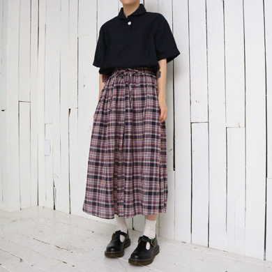 to check skirt - 2color
