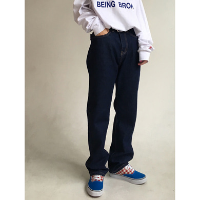 nomal straight denim pants