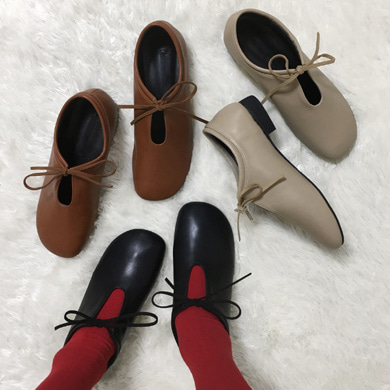 ribbon strap shoes - 3color