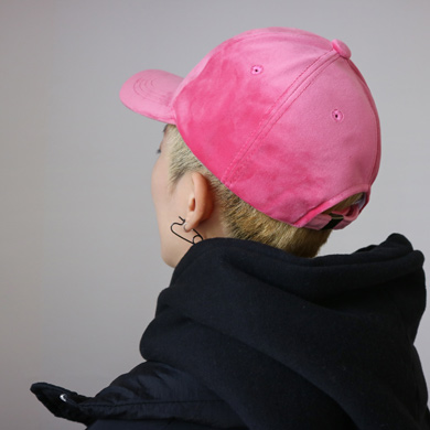 velvet ball cap - 4color