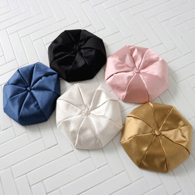 silky big beret - 5color