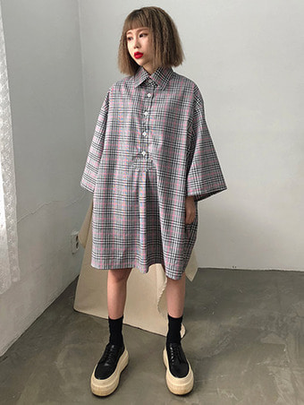 [unisex] humming check shirts - 2color