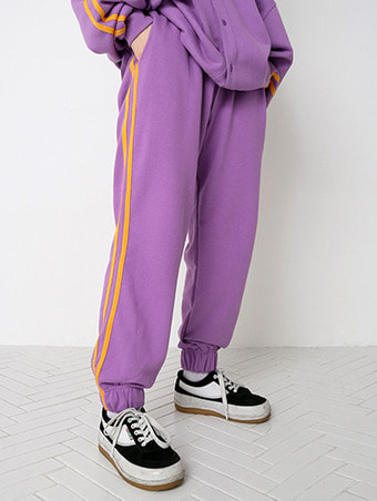 [unisex] S line jogger pants - 3color