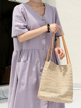 viscose tote bag - 2color