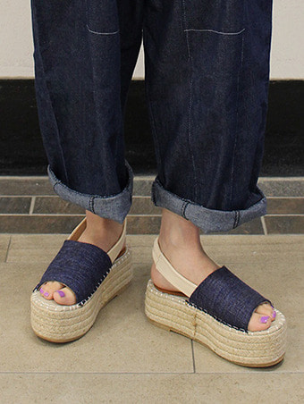 Espadrille platform sandals / 4color