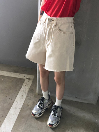 cutting cotton shorts / 2color
