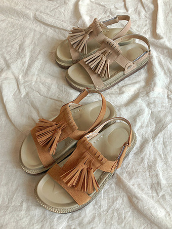 sweat tessle sandal / 2color