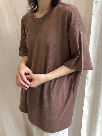 basic linen T - shirts / 4color